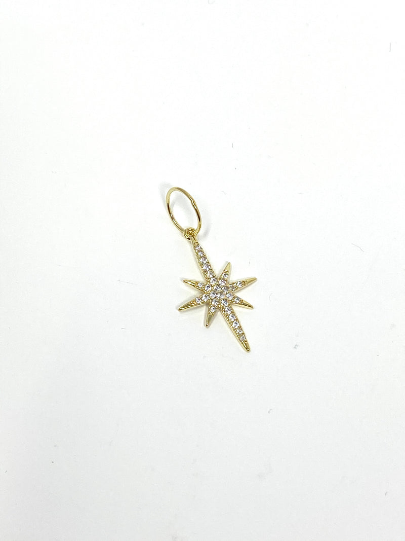 Charming Starburst Charm in Clear