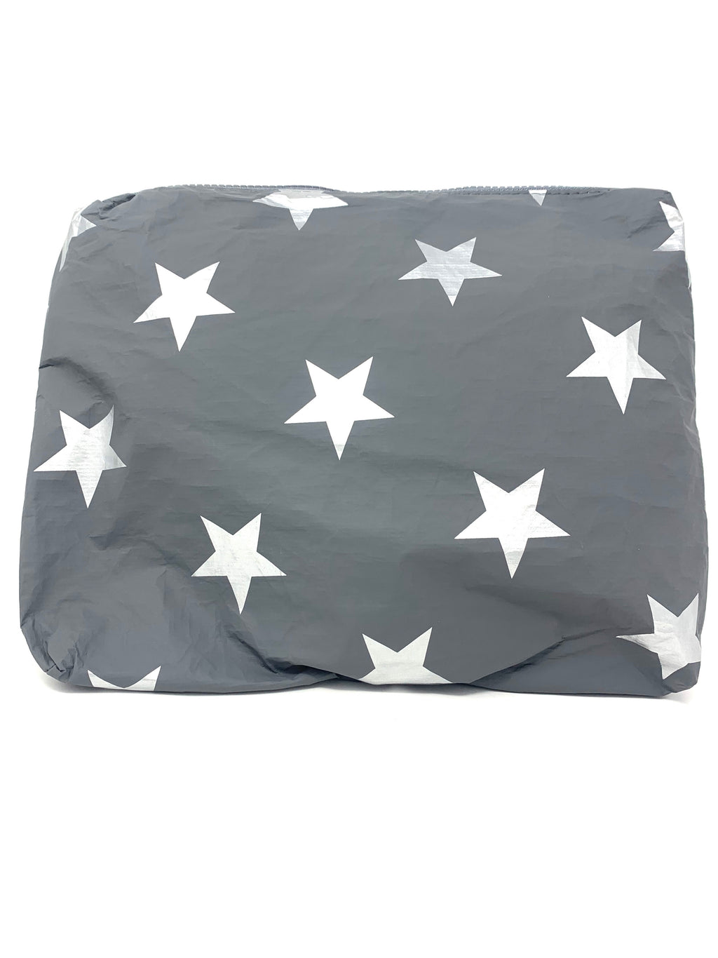 Hi Love Travel Grey Medium Pouch with Silver Stars