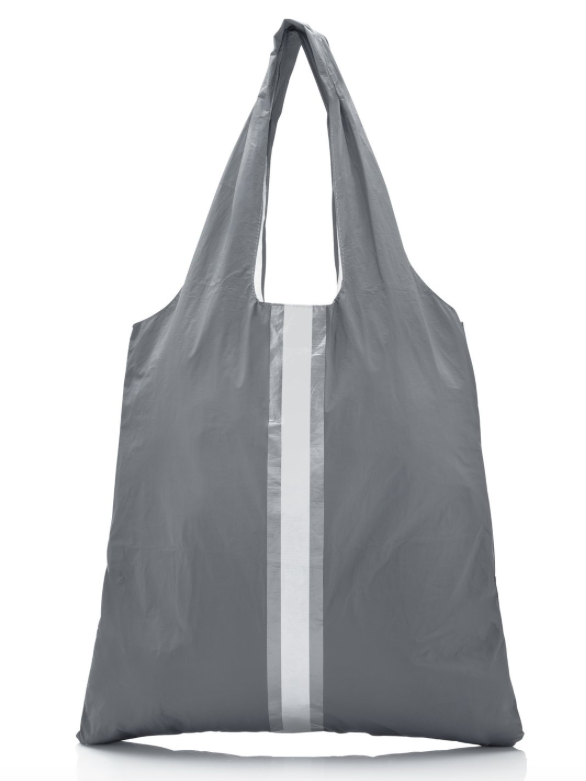 Cool Gray Carryall Tote with a Double Metallic Line