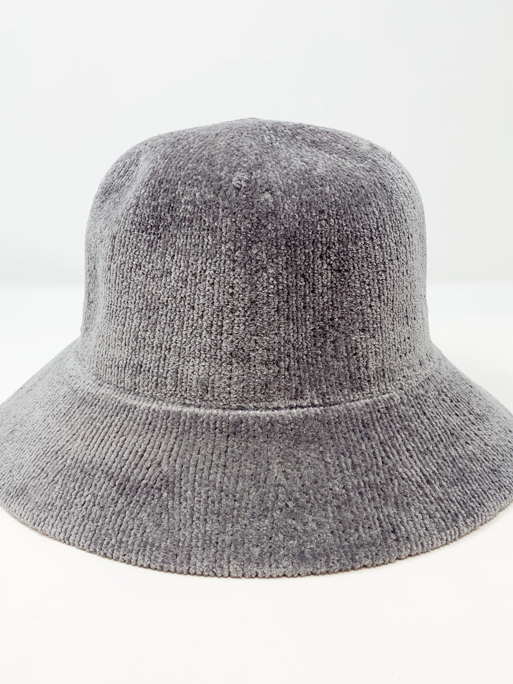 Chenille Bucket Hat in Grey