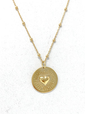 The Shining Heart Pendant Necklace