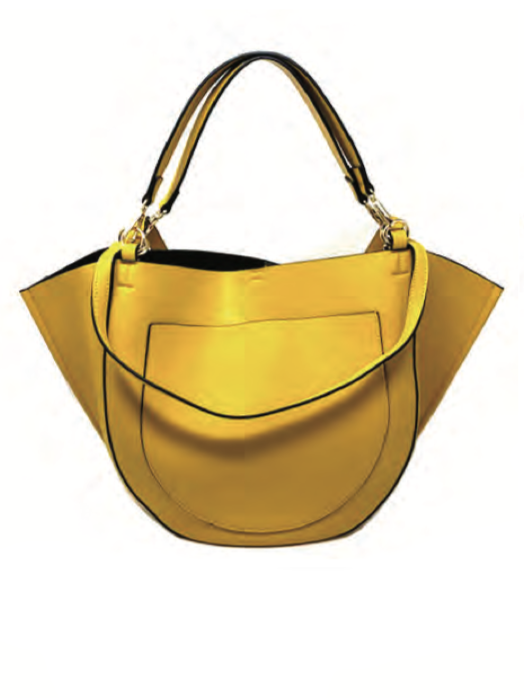 Holly Hobo Bag in Golden Yellow