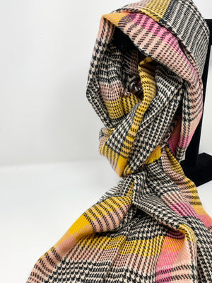 SALE! Stella Winter 2020 Houndstooth Scarf in Black, Cream, Pink, and Tangerine