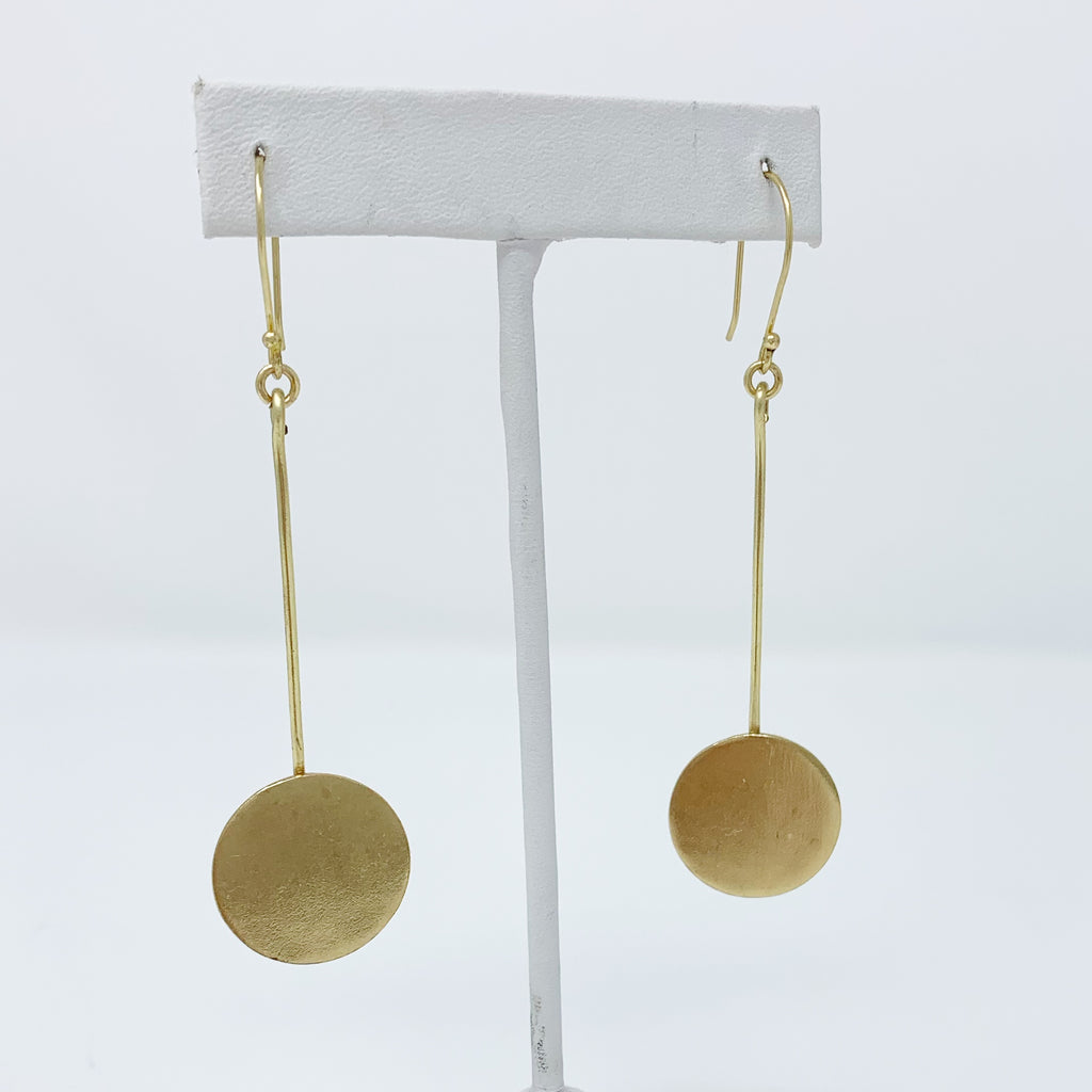 SALE! Circle Drop Earrings