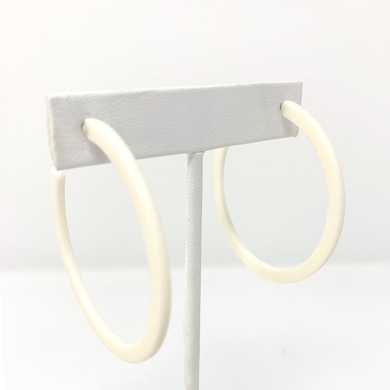 SALE! Matte Flat Hoops in Vanilla