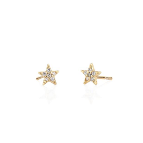 KN Pave Star Studs in Gold