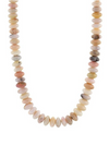 Pink Opal Bead Strand Necklace
