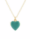 Heart Locket in Turquoise Enamel