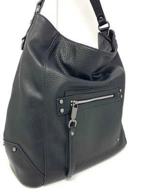 The Jett Large Bucket Bag with Studded Strap