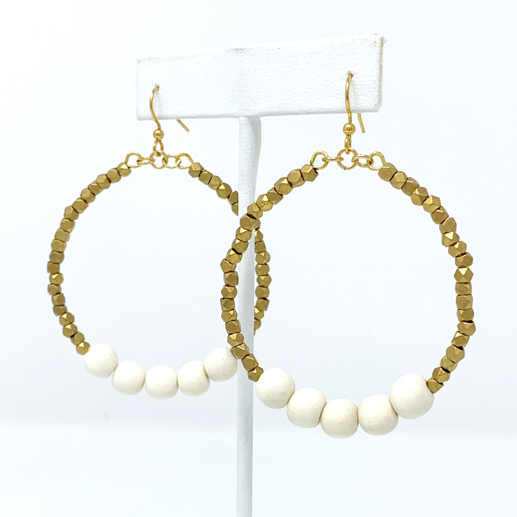 Sale! Beachy Beaded Hoop Earring