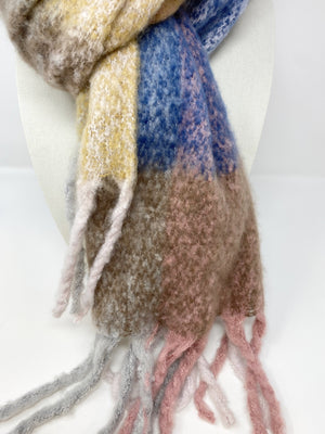 SALE! Lexi Winter 2020 Fluffy Scarf in Pinks/ Blues/ Browns