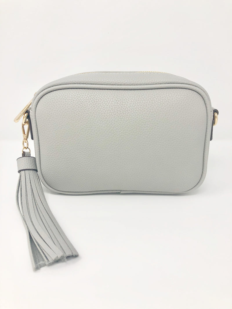 Small Tassel Bag in Light Grey