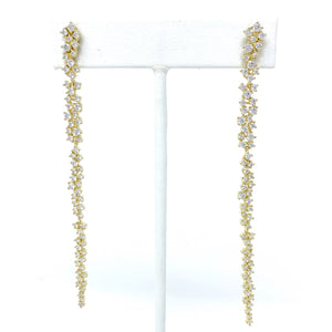 The Charlize Long Cluster Earring