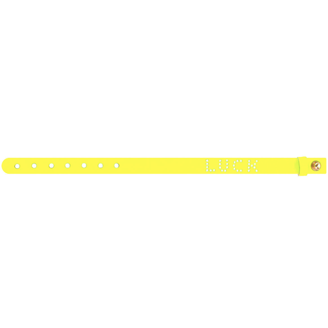 LUCK Neon Yellow Leather Bracelet