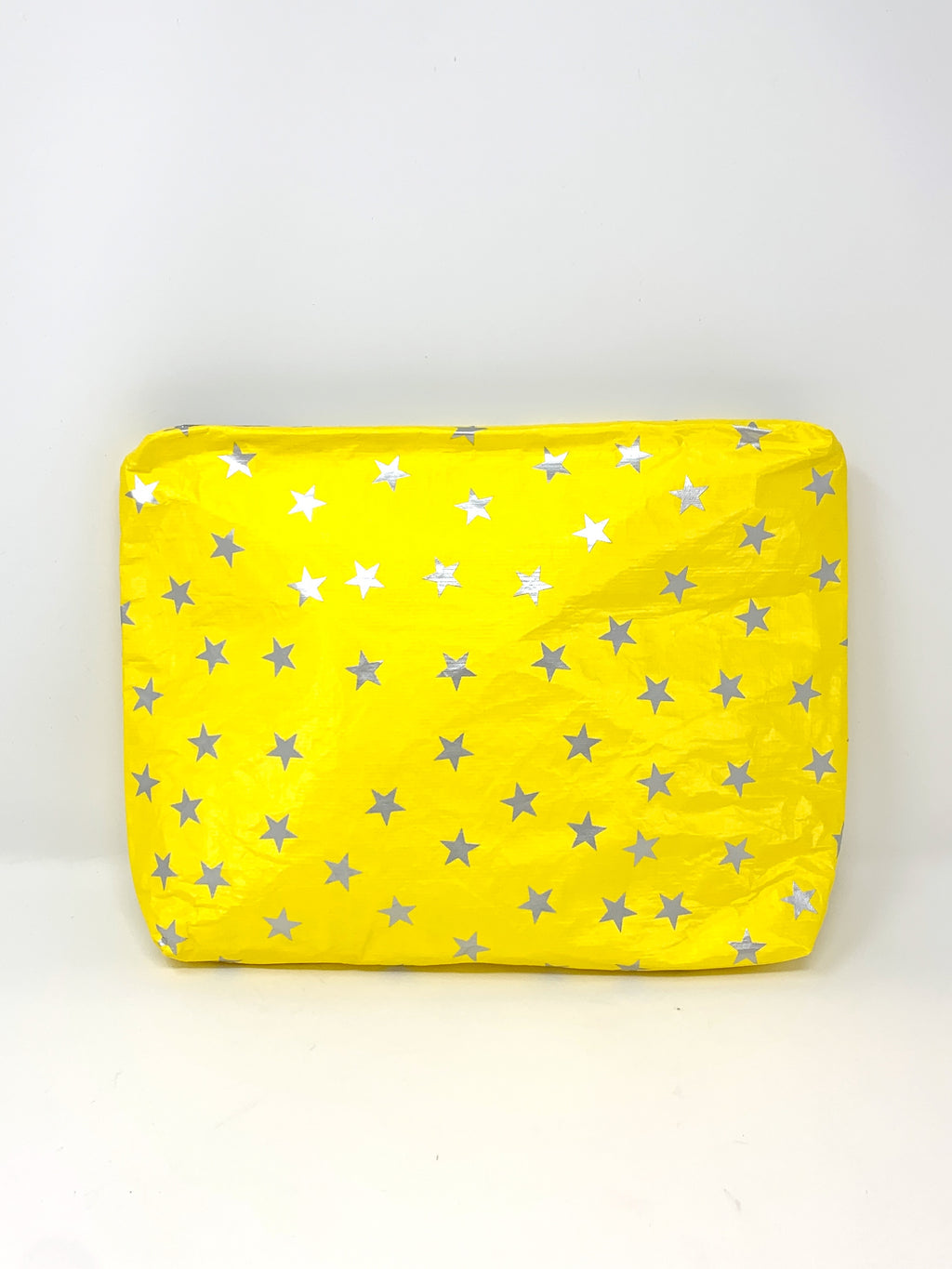 Hi Love Travel Yellow Medium Pouch with Silver Stars
