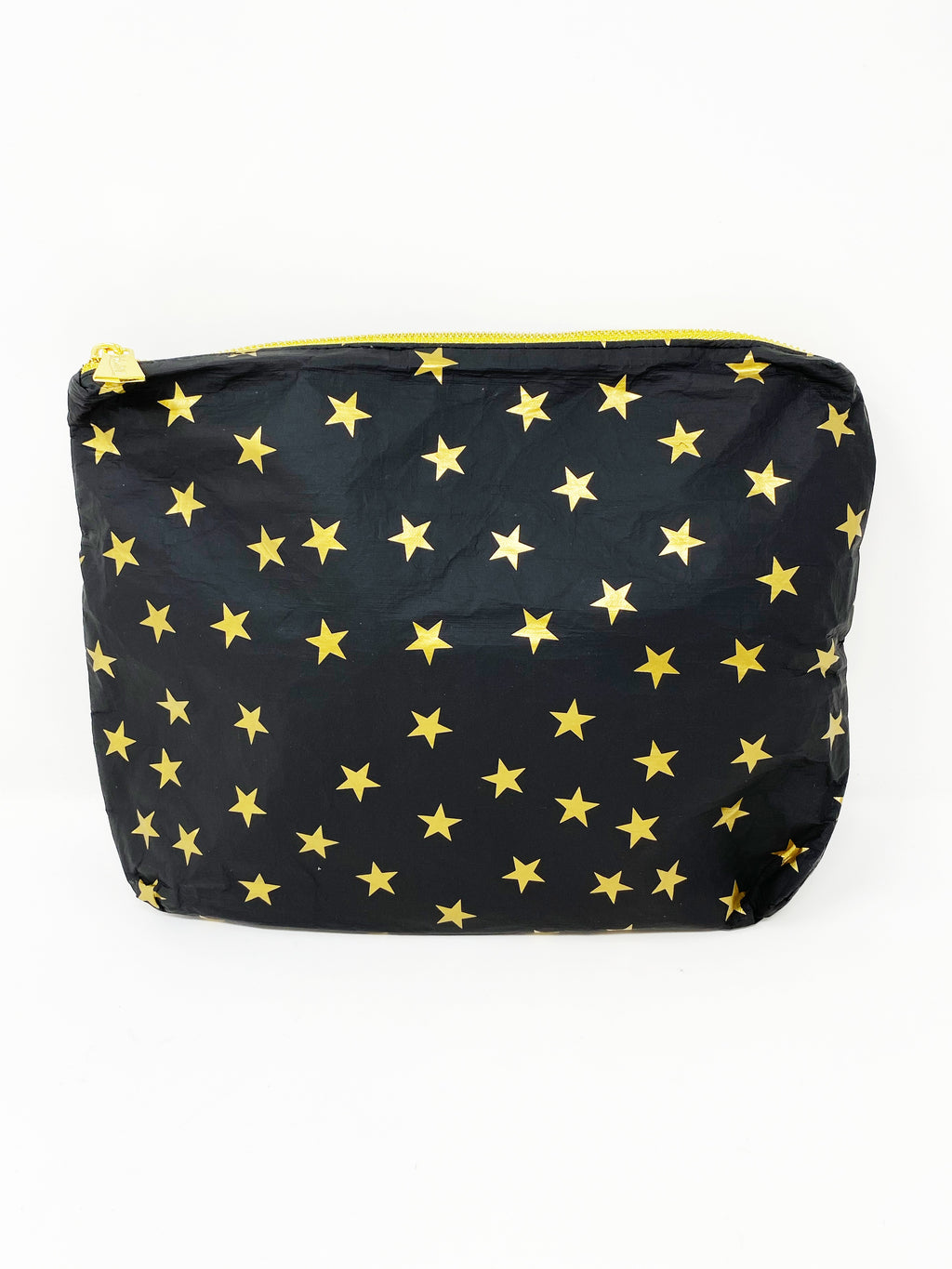Hi Love Travel Medium Pouch in Black with Gold Myriad Stars