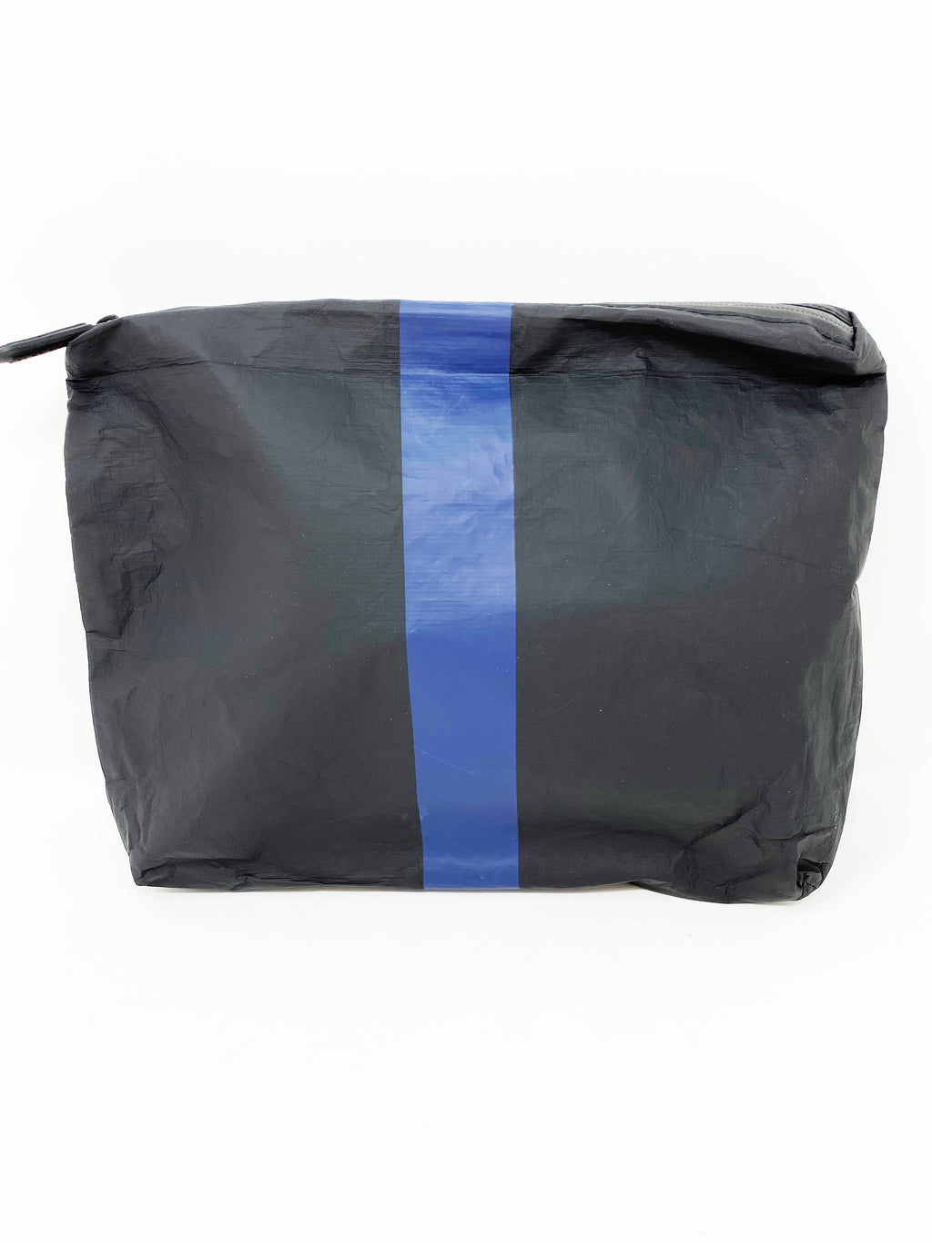Hi Love Travel Black Medium Pouch with Navy Stripe