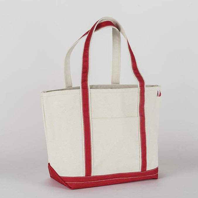 Medium Classic Boat Tote in Red