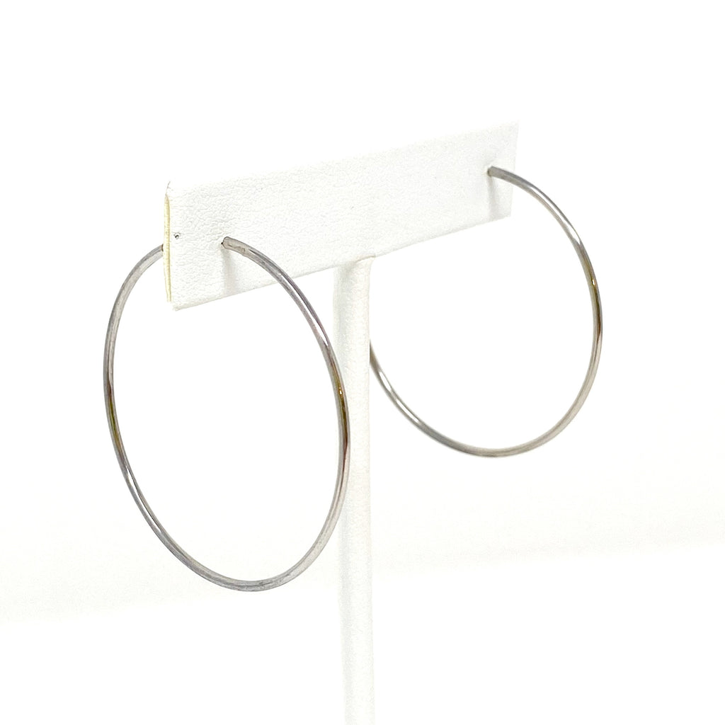 Medium Hoops in Silver