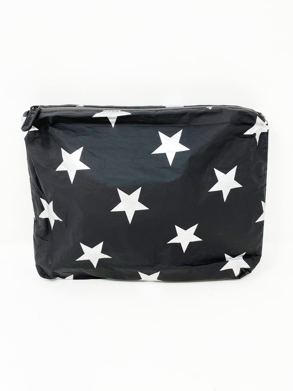 Hi Love Travel Black Medium Pouch with Silver Stars