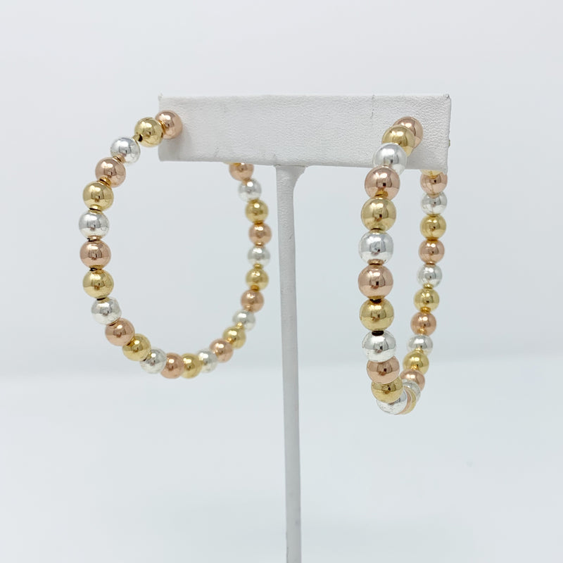 SALE! Mixed Metals Ball Hoops