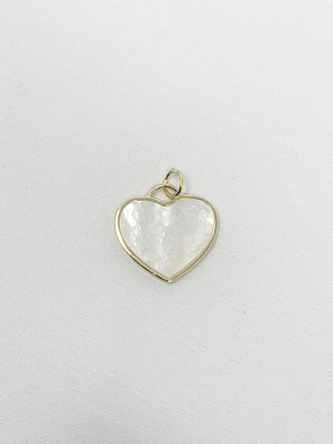 Charming Mother of Pearl Heart Charm