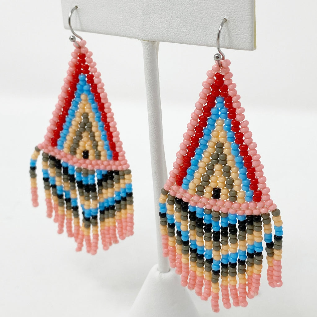Bubblegum Beaded Earring