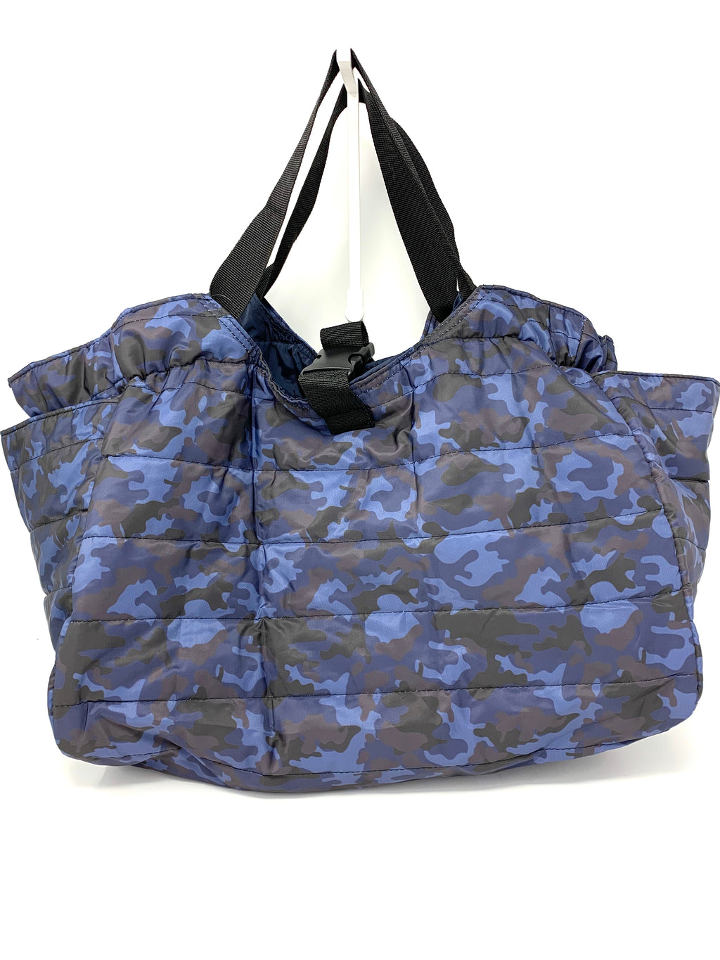 SALE! Camo Poufy Bag in Navy