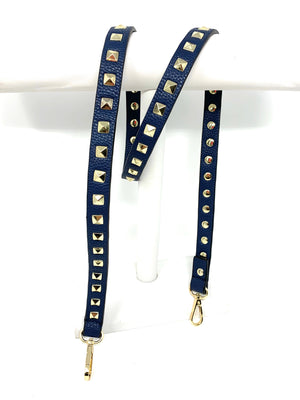 Studded Strap in Navy
