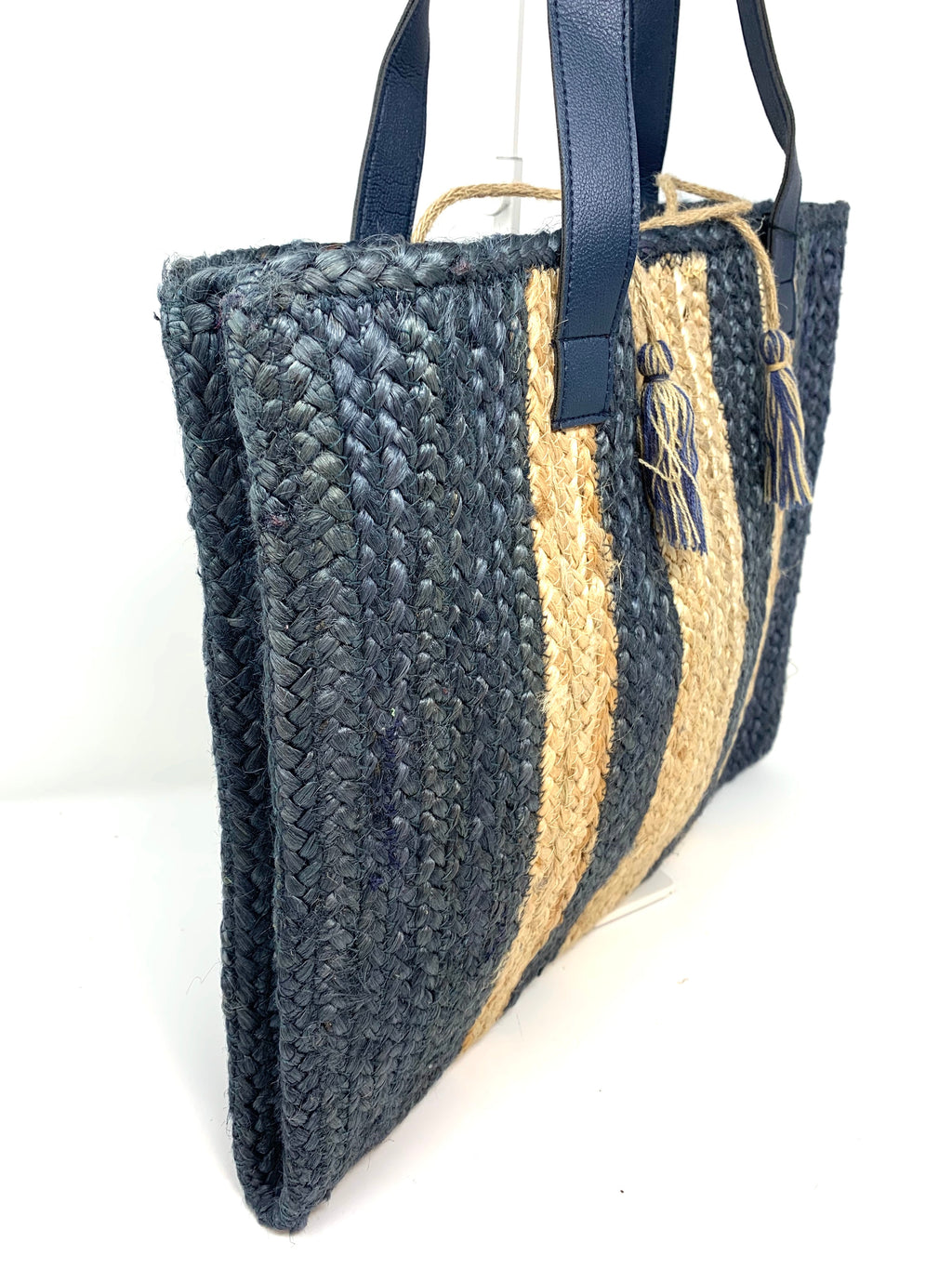 Deniza Jute Tote in Indigo