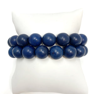 Individual Beaded Stackers in Navy