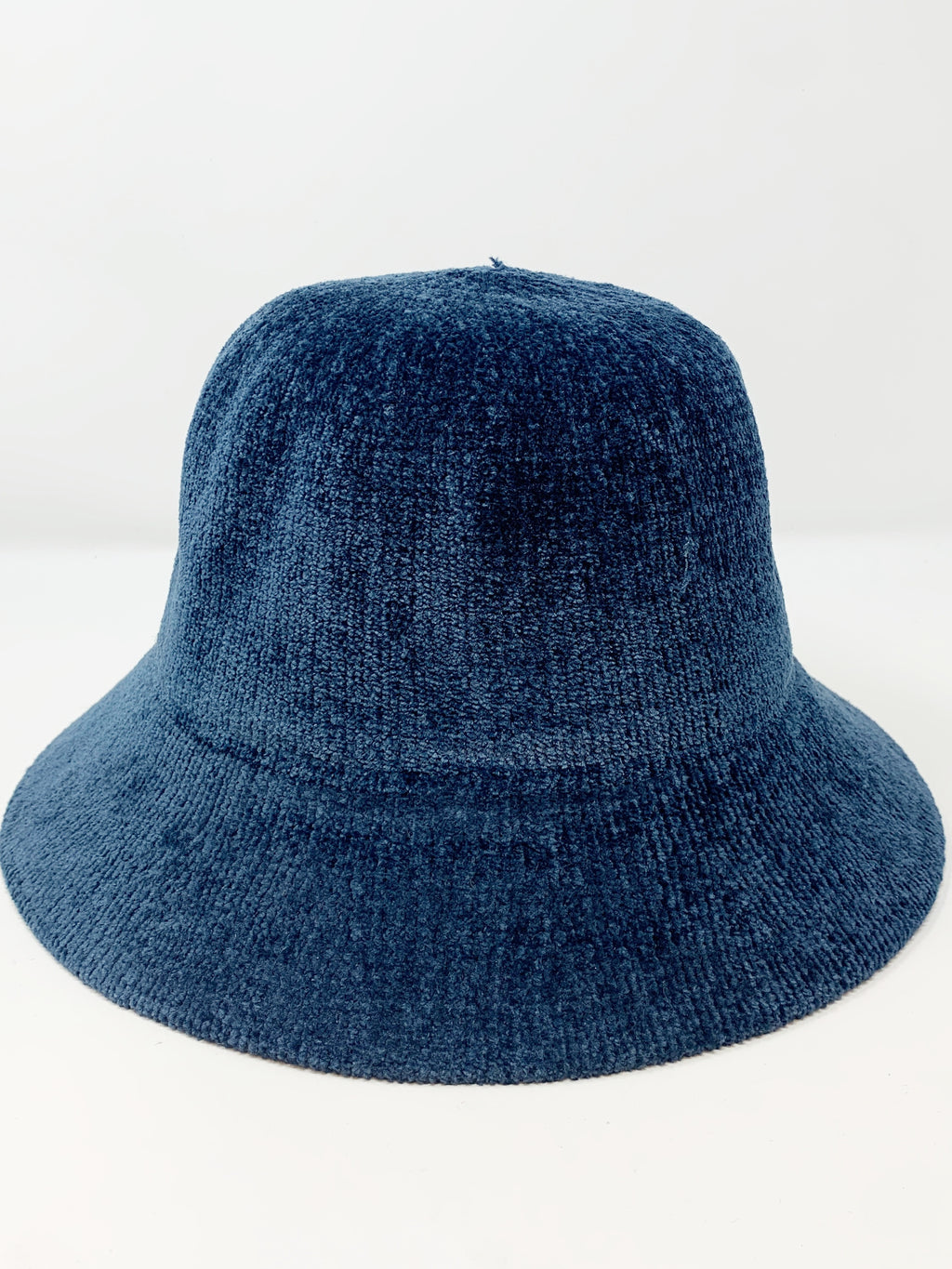 Chenille Bucket Hat in Navy