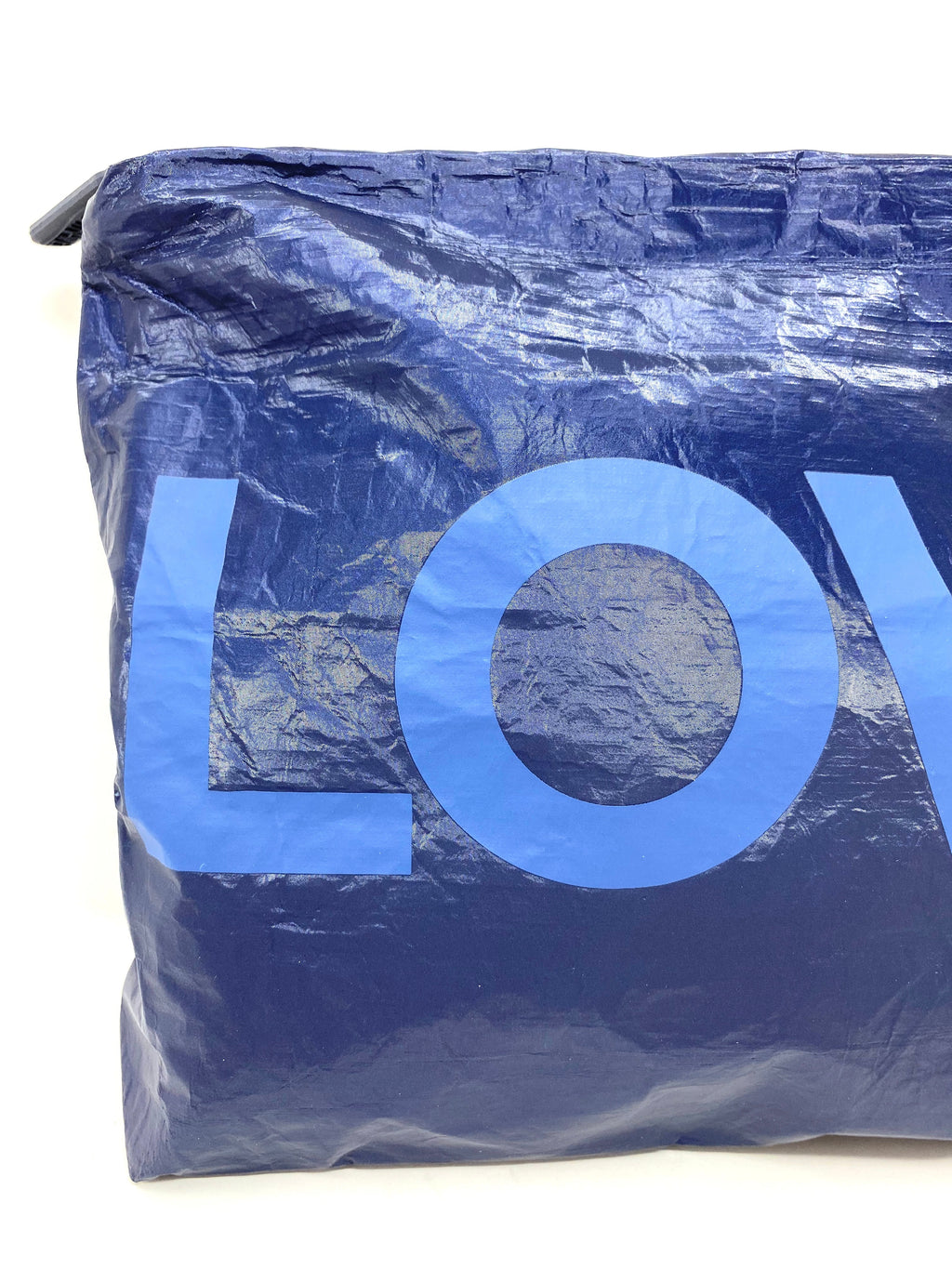 Hi Love Travel Medium LOVE Pouch in Navy Shimmer