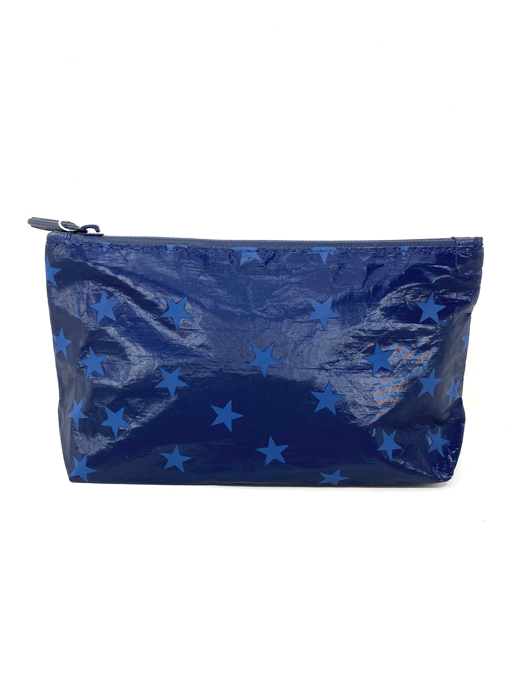 Hi Love Travel Small Pouch in Navy Shimmer with Myriad Stars