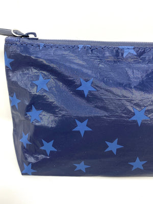 Hi Love Travel Medium Pouch in Navy Shimmer with Myriad Stars