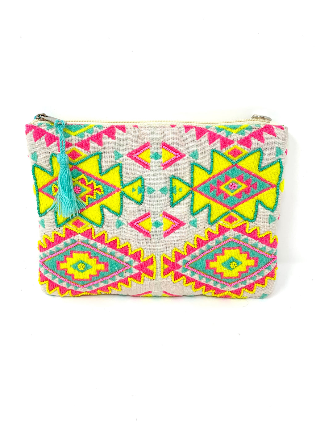 Embellished Pouch with Strap (available in 6 colors)