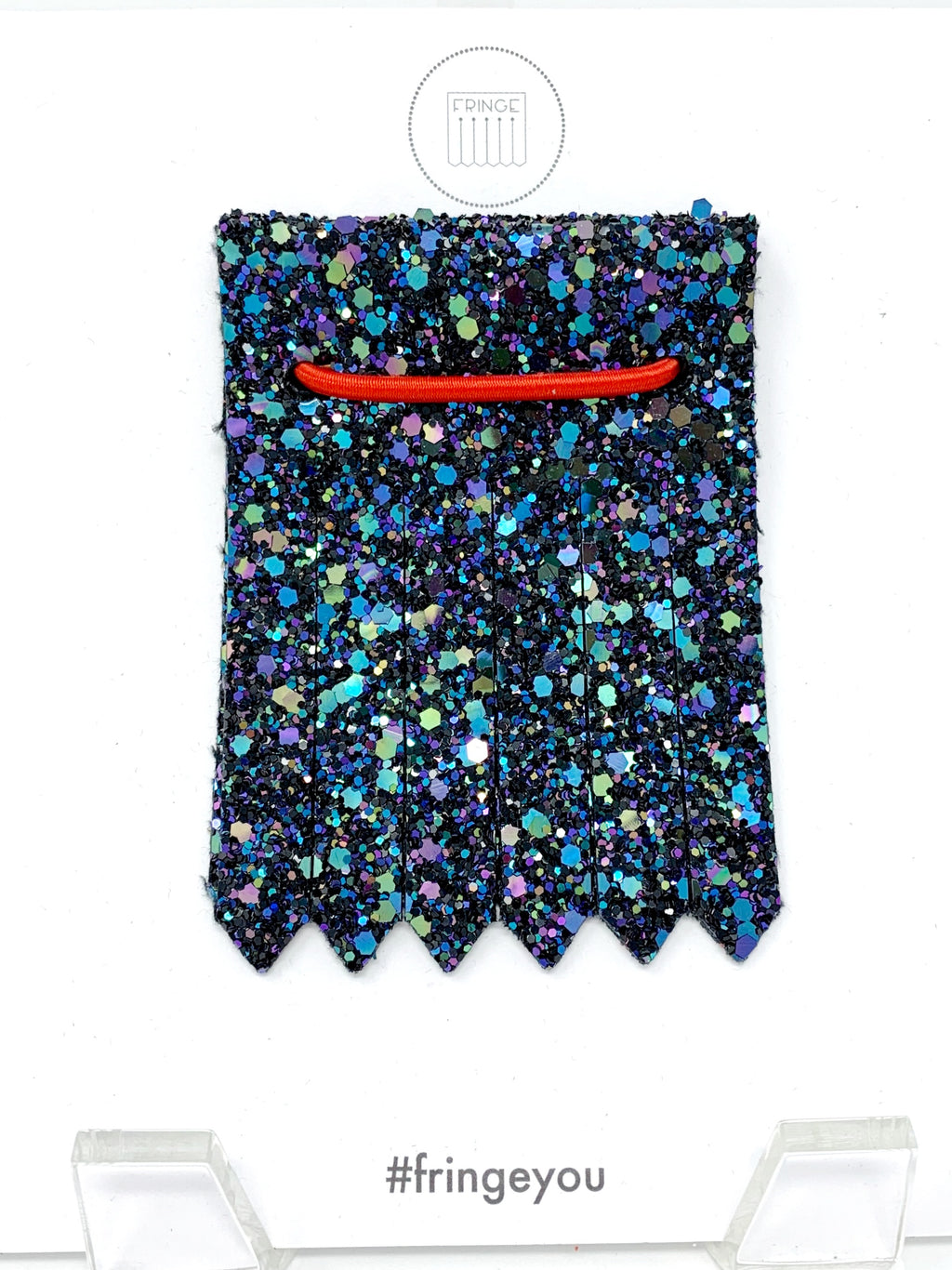 Shoe Fringe Short in Night Sky Glitter