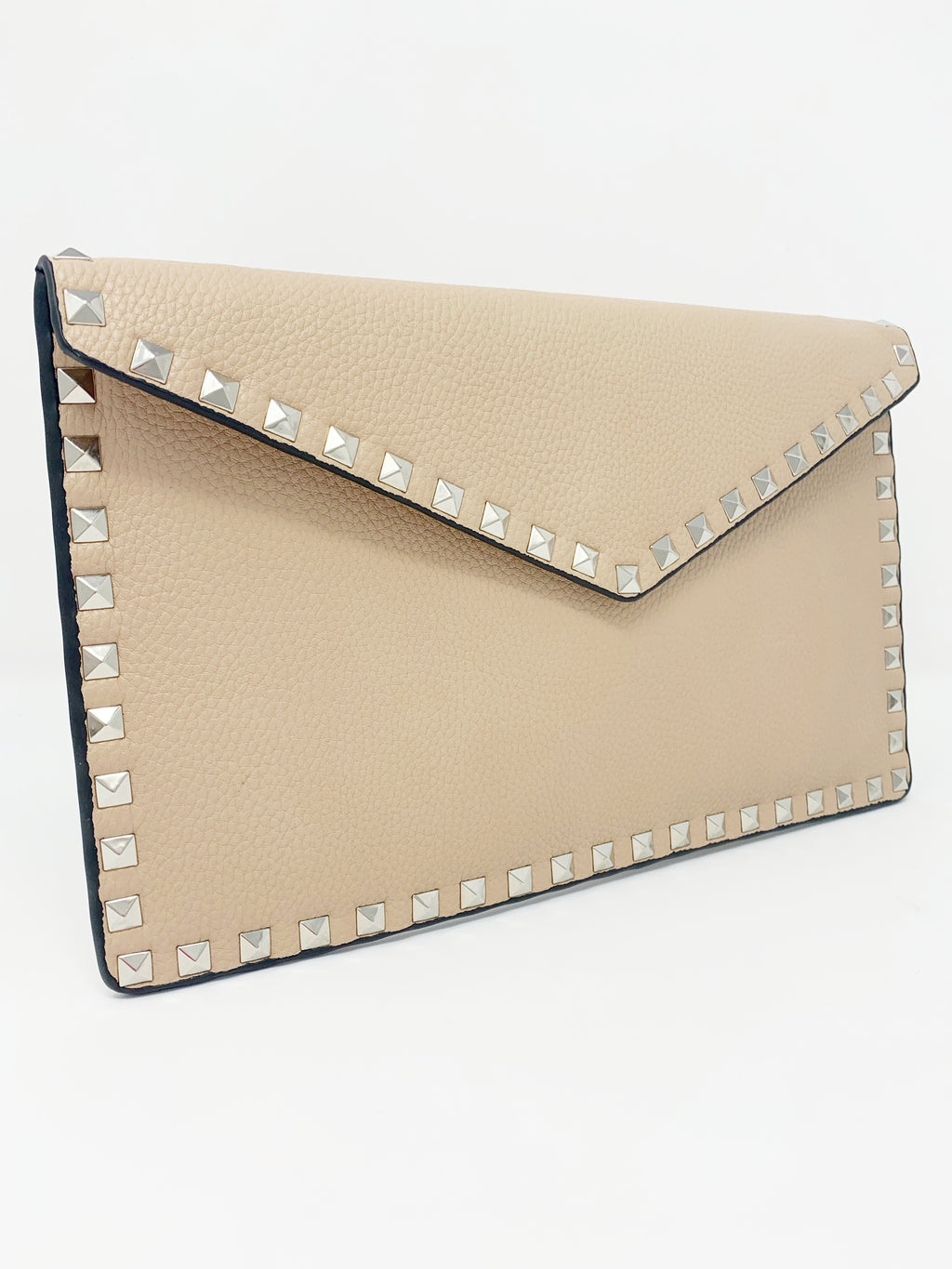 Studded Envelope Clutch in Nude