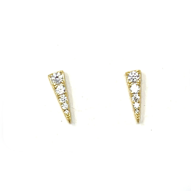 Pave Spike Studs in Gold