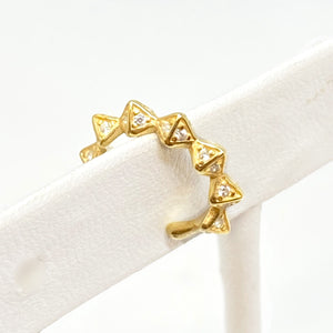 Tara Pave Ear Cuff in Gold