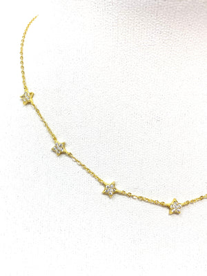 Pave Star Choker in Gold