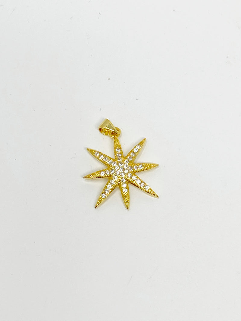 Charming Pave Star Charm in Gold