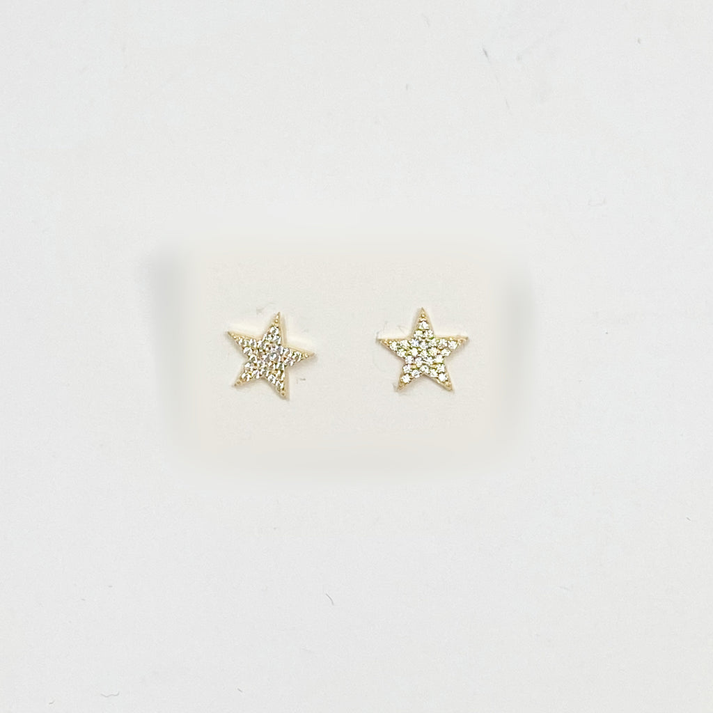 Sparkling Stars Studs in Gold