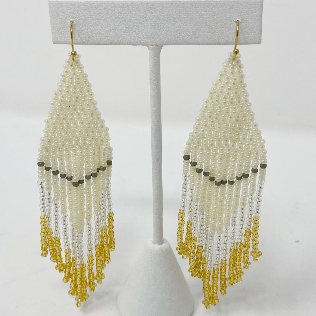 Champagne Beaded Earring