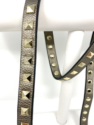 Studded Strap in Pewter