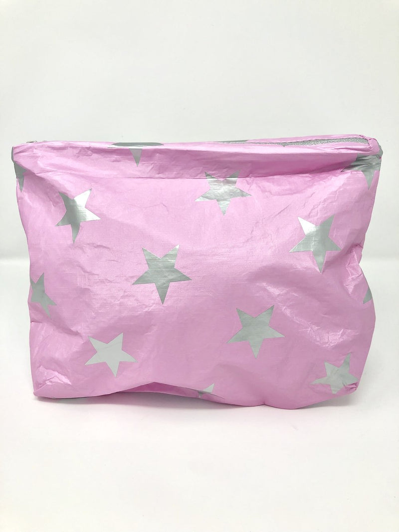 Hi Love Travel Pink Medium Pouch with Stars