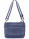 Puffer Crossbody Bag in Navy