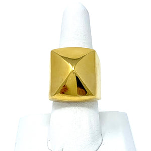 Pyramid Ring in Gold