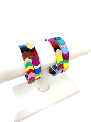 Chevron Rainbow Stacker Bracelet