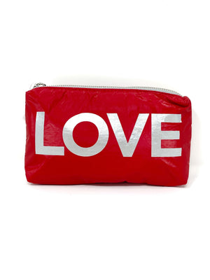 Hi Love Travel Small LOVE Pouch in Red